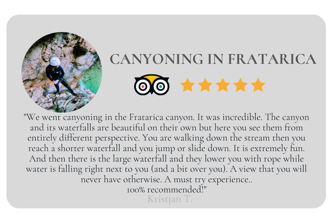 CANYONING FRATA