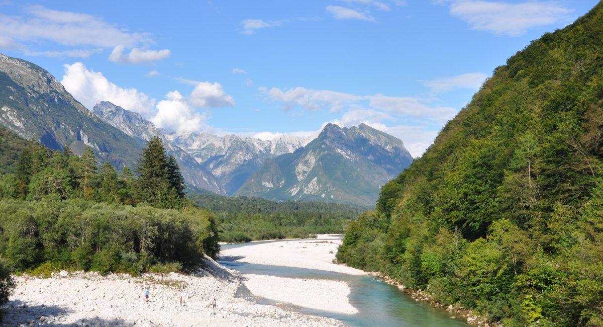 Bovška dolina in Soča
