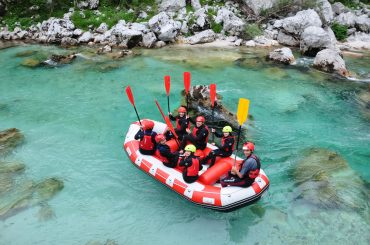 Raft Soča - cilj